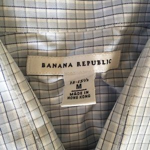 Banana Republic blue dress shirt 15-15 1/2